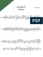 Guía rítmica Nº1 - Polirritmias