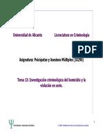 Investigación en criminología