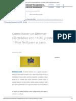 Como Hacer Un Dimmer Electrónico Con TRIAC y DIAC _ Muy Fácil Paso a Paso