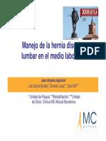 MANEJO DE LA HERNIA DISCAL LUMBAR