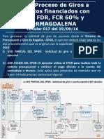 Nuevo Proceso de Giros a Proyectos Financiados Con FDR