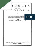 URDANOZ, T., Historia de La Filosofía, Vol. v (Siglo XIXb), 1975