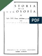 URDANOZ, T., Historia de La Filosofía, Vol. IV (Siglo XIXa), 1975