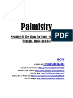 Palmistry Meaning of the Signs on Palm