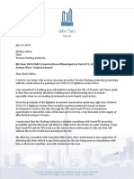 Letter From Mayor Tory to TPA Chair Lefton - 2019-07-22