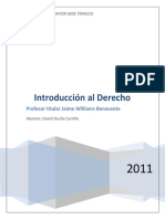 Materia Jaime Williams Benavente (Introduccion Al Derecho 2011)