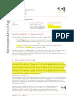 Memorandum of Agreement (Sample)