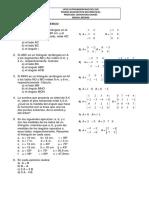 PRUEBA DIAGNÓSTICO Triángulos y Matrices