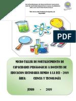 TALLER CIENCIA Y TECNOLOGÍA