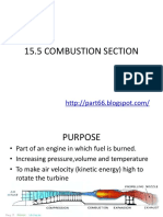 Combustion Section Turbine Engine