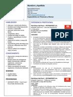 CV Modelo J. Oliveros