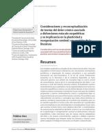 Consideraciones y reconceptualización  de teorias del dolor crónico asociado  a disfunciones músculo esqueléticas  y su implicancia en la plasticidad y  reorganización cerebral
