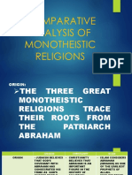 Comparative Analysis of Monotheistic Religions_judaism_christianity_islam