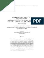 Sobre Malabou - Prati - Enfermedad Mental y Plasticidad