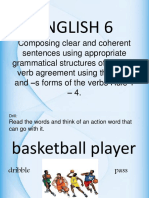 English 6-Subject Verb Agreement