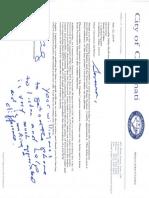 Mayor John Cranley Letter
