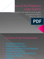 Overview of the Philippine Legal system