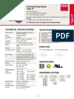 Gsr Data Sheet Solenoid Valve Type 27