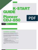Serato DJ Pioneer CDJ-850 Quickstart Guide