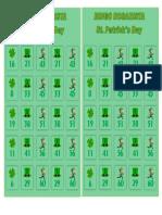 Bingo Saint Patricks Day First