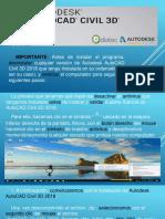 Pasos Para Validar Licencia -Autodesk AutoCAD Civil 3D 2018
