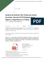 Análisis Del Artículo 160. Protección Contra Incendios. Decreto 351