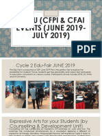 Pre-u (Cfpi Cfai Events (June 2019- July 2019)