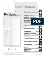 Refridigarator Manual