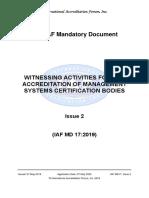 IAF MD 17:2019