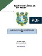 Calendario Academico de Pregrado 2019