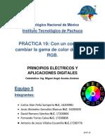 Práctica 17 -  Led RGB