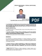 Preguntas y Casos Desarrollados de Constitucional y Procesal Constitucional. Por. Dr. Janner  A. Lopez Avendaño.