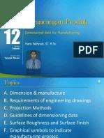 Modul 12. Dimensional Data for Manufacturing (1)
