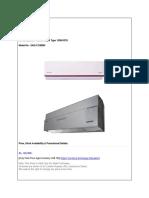 Air Conditioner - Inverter Split Type 12000 BTU Singer