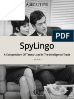 Spy Lingo - A Compendium Of Terms Used In The Intelligence Trade