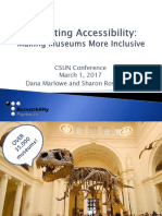 Exhibiting Accessibility