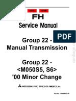 1996-2001 Fuso – Manual Transmission