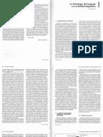 Psicología del lenguaje y la actividad linguística. López-Higes