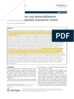 Photodegradation and photostabilization of PS