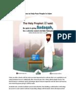 How to Help Poor People in Islam - Sadaqah