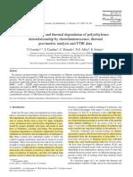 Photooxidative and Thermal Degradation of Polyethylenes-CLA, TGA and FTIR