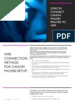 Steps to setup Canon Mg3500 Setup