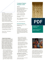 Brochure for KRC Lang Classes 1