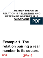Tell Whether the Given Relation is a Function