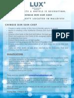LSAA Job Poster Advert_Dimsum Chef23.07.19