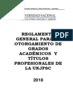 Reglamento de Grados y Titulos 2018 - Aprobado Por 813-CU-UNJFSC (1)