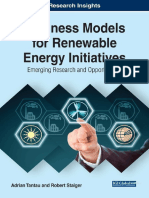 Business Models for Renewable Energy Initiatives Emerging Research and Opportunities