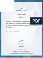 Android App Development Training - Certificate of Completion