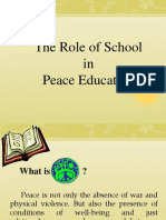 The Role of School in Peace Education