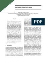 Multi Domain Collarative Filtering
